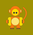Flat icon on background kids toy monkey vector image