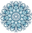 floral round lace mandala vector image vector image