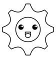 gear machine kawaii character vector image vector image