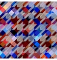 Houndstooth pattern on abstract geometric vector image vector image