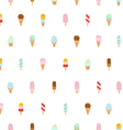 Ice cream repeat pattern vector image vector image