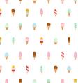 Ice cream repeat pattern vector image