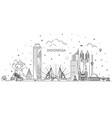 indonesia cityscape with landmarks vector image vector image