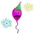 isolated happy balloon vector image