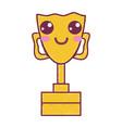 kawaii cute happy prize cup vector image vector image