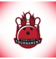 label of bowling tournament vector image