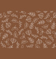 leaves outline seamless pattern for use as vector image