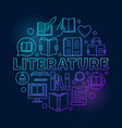 literature round blue vector image vector image