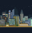 modern urban city landscape flat night vector image vector image
