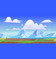 mountain landscape with green meadows and fields vector image