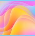 multicolored wavy background vector image vector image