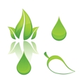nature and eco green vector image vector image