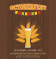 octoberfest creative poster information holiday vector image vector image