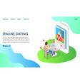 online dating website landing page design vector image vector image