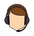 Operator man with headphone design vector image vector image