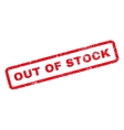 Out Of Stock Rubber Stamp vector image