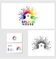 painting house icon design template vector image vector image