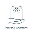 perfect solution line icon linear concept vector image vector image