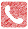 phone fabric textured icon vector image