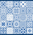 portugal tile spanish square floor and wall vector image