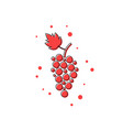 red thin line grape icon vector image vector image