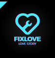 repair love logo design element vector image vector image