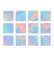 set bright blue and pink hologram background vector image vector image