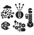 Set of creative miniatures vector image vector image