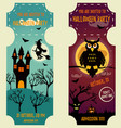 set of halloween backgrounds with bright vector image vector image