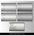 Set of metallic themed business card templates vector image