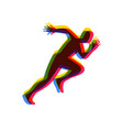 silhouettes running athlete running man vector image