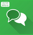 speech bubble flat icon discussion dialog vector image