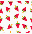 summer watermelon ice cream seamless pattern vector image vector image