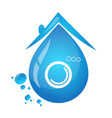 symbol for cleaning houses vector image vector image