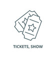tickets show line icon linear concept vector image vector image