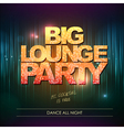 Typography Disco background Big lounge party vector image vector image