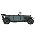 Vintage gray cabriolet vector image