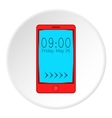 Watch on mobile phone icon cartoon style vector image vector image