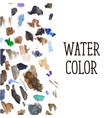 watercolor stains background color brush pattern vector image vector image
