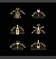 wine symbol or logo winery winemaking drink vector image