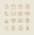 woman clothes icons vector image