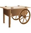 Wooden handcart vector image vector image