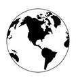 world map international globe cartoon in black and vector image vector image