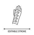 wrist brace linear icon vector image vector image