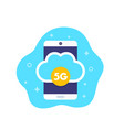 5g mobile network icon vector image