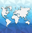 Abstract background with a map of the world vector image vector image
