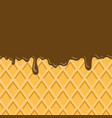 abstract chocolate background image vector image