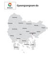 administrative map gyeongsangnam-do south korea vector image