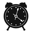 alarm clock icon simple black style vector image