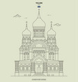 alexander nevsky cathedral in tallinn vector image vector image